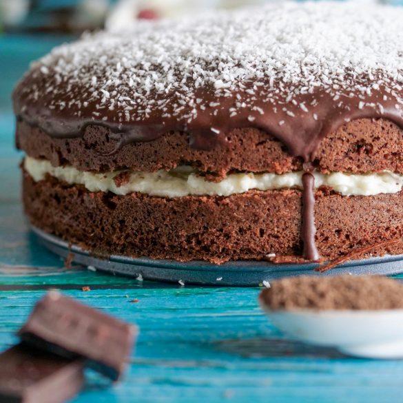 gâteau chocolat crème coco