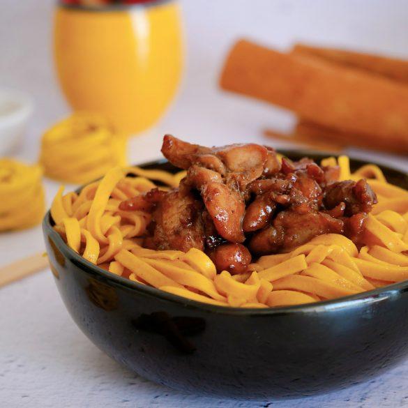 poulet à la cannelle tagliatelles curcuma citron