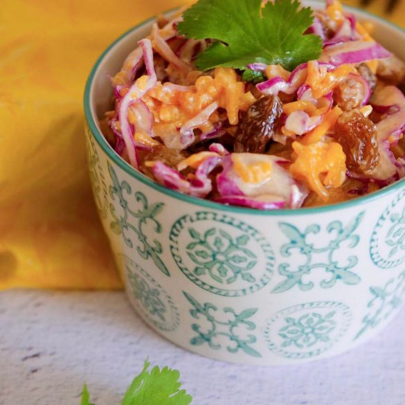 salade coleslaw yaourt chou giraumon