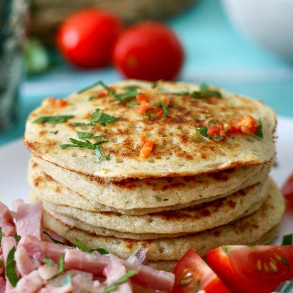 Mini pancakes d'igname